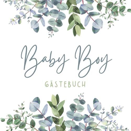 Baby Boy Gästebuch: Gästebuch Babyparty Babyshower Gästebuch Babyparty Junge Bücher Zum...