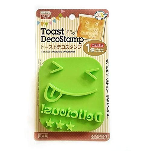 Daiso Japan – Delicious Toast-Stempel, Brot, Smiley, Smiley-Gesicht.