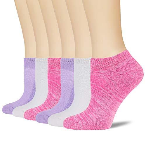 +MD 6 pares de calcetines deportivos de bambú para mujer Calcetines invisibles de bambú Medias medias cortas acolchadas de colores Type2 35-38