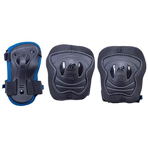 K2 Skates Mädchen RAIDER PRO PAD SET, blue, S (Knee: A:27-31cm B:25-29cm / Elbow: A:22-25cm B:20-23cm / Wrist: A:17-19cm B:14-16cm)