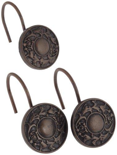 Carnation Home Fashions PHP-REG-67 Regency Duschvorhang Haken in -l eingerieben Bronze - von 12 Stellen