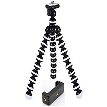 Marklif Gorilla Tripod/Mini Tripod 13 inch for Mobile Phone with Holder for Mobile, Flexible Gorilla Stand for DSLR & Action Cameras