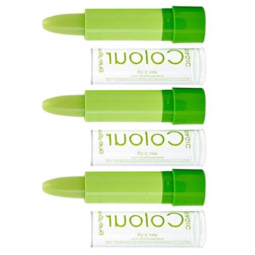 MagiDeal 3 Stück Farbe mit Temperaturänderung verändert Lippenstift, Magic Schimmer Lipstick, Damen Make-up Lipgloss