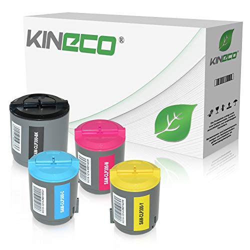 Kineco 4 Toner kompatibel zu Samsung CLP-300, CLP300N, CLX-2160N, CLX-3160FN, CLX-2100 Series - Schwarz 2.000 Seiten, Color 1.000 Seiten