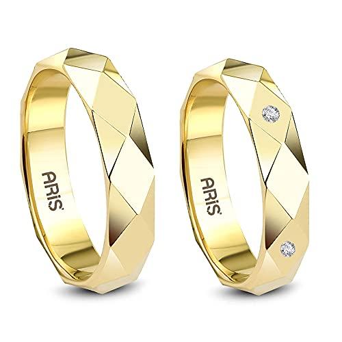 Aris Diamond - Fedi nuziali in oro giallo 585