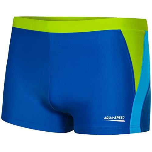 Aqua Speed Dario Costume da Bagno Corto Elastico para Uomo   Calzoncini da Bagno   UV-Protection   01. Blu/Azzurro/Verde   Taglia: XL