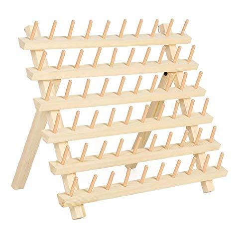 Tema Rack de 60 Carrete de Hilo Carrete de Madera del Organizador del sostenedor con Colgar los Ganchos de Costura Bordado, Hecho a Mano Material de Almacenamiento