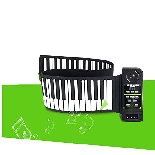 JJCFM Rollo De La Mano del Piano, Teclado Portátil 88 Clave Espesado Versión Electrónica, Entrada De Silicona De Los Niños Se Pueden Deshacer Teclado, Apto para Begainners Y Los Niños