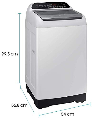 Samsung 6.5 Kg 5 Star Inverter Fully-Automatic Top Loading Washing Machine (WA65T4262GG/TL, Light Grey, Wobble technology) 2