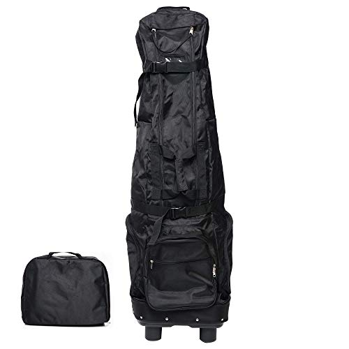 MTHERMAN Golf Travel Bags for Airlines with Wheels | Golf Club Travel Bag | Unique Folding Design | Tough Waterproof PVC Coating | Practical & Lightweight | 54' x 15' x 11'