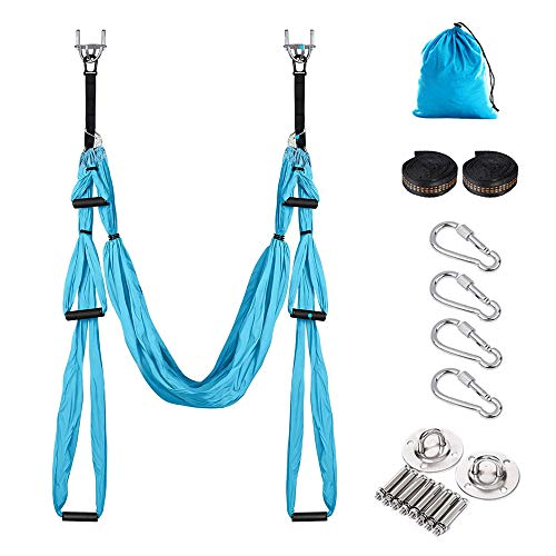 Save %13 Now! MOTTDAM Aerial Yoga Swing Set, with Yoga Hammock, Sling Kit and Extension Hanging Stra...