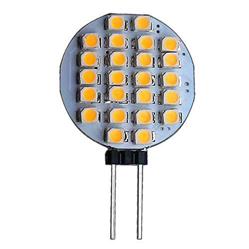 G4 LED met 24 SMD 1 Watt WARMWIT 12V DC stiftfitting 120° lamp sokkel spot halogeen lamp lamp lamp lamp