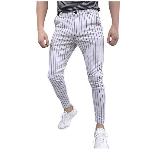 Tefamore Nouveau Pantalon de Sport pour Hommes à Rayures Estivales Fashion Stripe Fitness Pantalon de Running Sportif