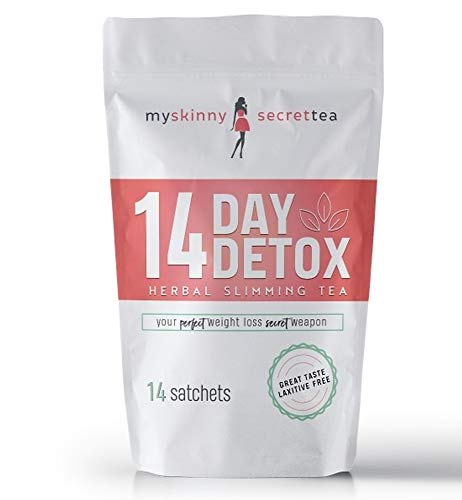 My Skinny Secret 14 Day Detox Tea Cleanse (Peach) Laxative Free Herbal Slimming Tea for Weight Loss, Reduce Bloating, Increases Metabolism With Green Tea and Other All Natural Ingredients
