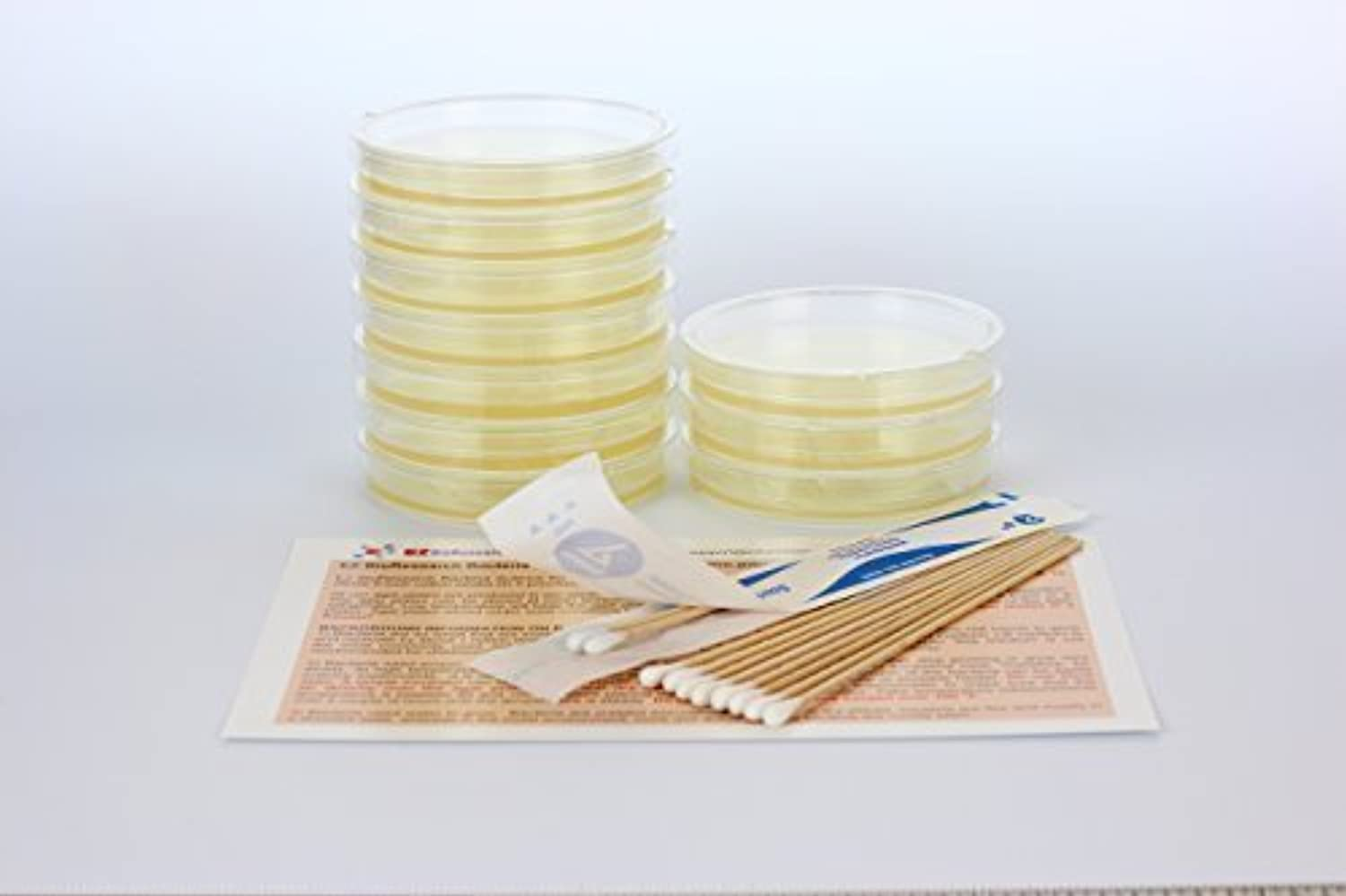 EZ BioResearch Bacteria Science Kit (II)  Top Science Fair Project Kit. Prepourot LB-Agar Plates And CottonSwabs. Exclusive Free Science Fair Project E-Book Packed With Award Winning Experiments. by EZ BioResearch