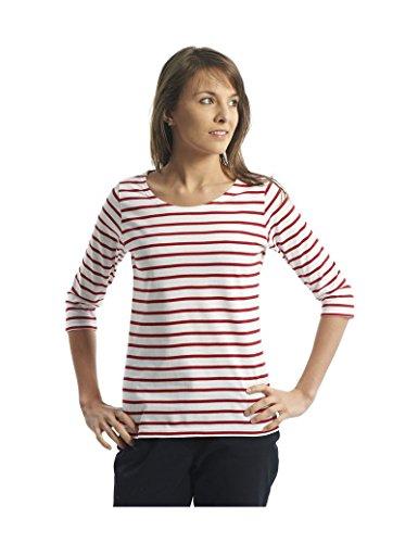 Armor Lux   Streifenshirt Cap Coz, Weiss/Rot (S)