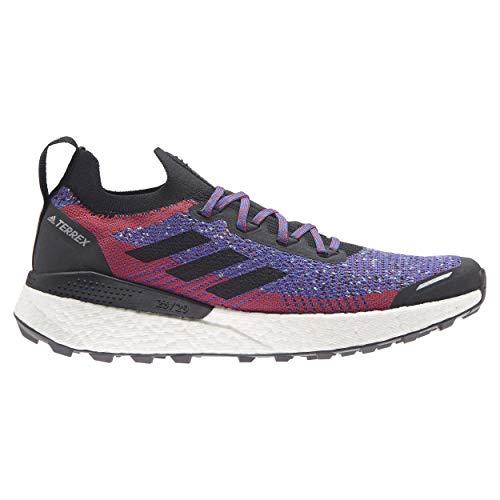 adidas Terrex Two Ultra PRIMEBLUE, Zapatillas de Trail Running Hombre, Escarl/NEGBÁS/CELBRU, 45 1/3 EU