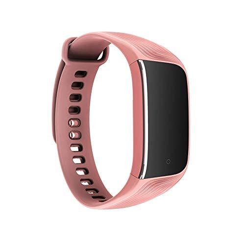 Extrbici - Reloj de Pulsera con Monitor de Ritmo cardíaco, Monitor de sueño, Pulsera Inteligente, Contador de Pasos, Impermeable, para Hombres y Mujeres, Color Rosa