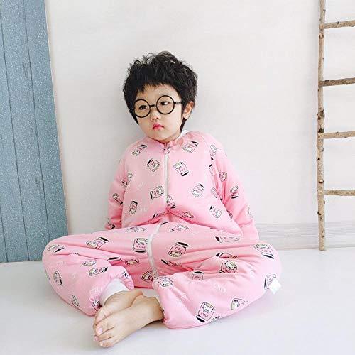 nohbi Schlafsack Baby Winterschlafsack,Babyschlafsack aus Baumwolle für Herbst und Winter, Kinderschlafsack mit verdicktem Bein,...