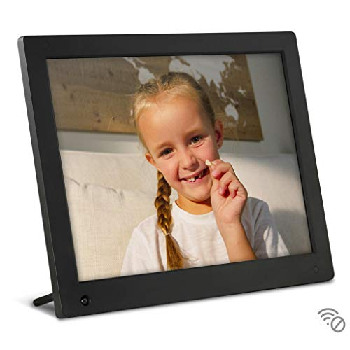 NIX Advance 15 Inch USB Digital Photo Frame - IPS Display, Auto-rotate, Motion Sensor, Remote Control - Mix Photos and Videos in the Same Slideshow