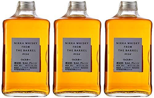 Whisky Japonés Nikka From The Barrel - 3 botellas de 50 cl, Total: 1500 ml