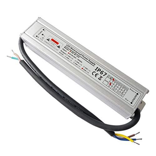 VARICART IP67 24V 2.5A 60W Wasserdichter LED Treiber, Ultra Schmal Universal Reguliertes AC DC Schaltnetzteil, Konstanter Spannungswandler Adapter für CCTV Kamera MR16 GU5.3 Glühbirne(1-er Packung)