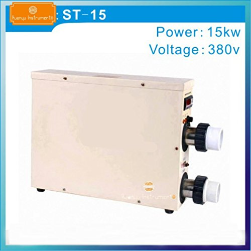 Huanyu ST-15 - Termostato eléctrico comercial para bañera de agua para piscina (ST-15, apto para 15 m3)