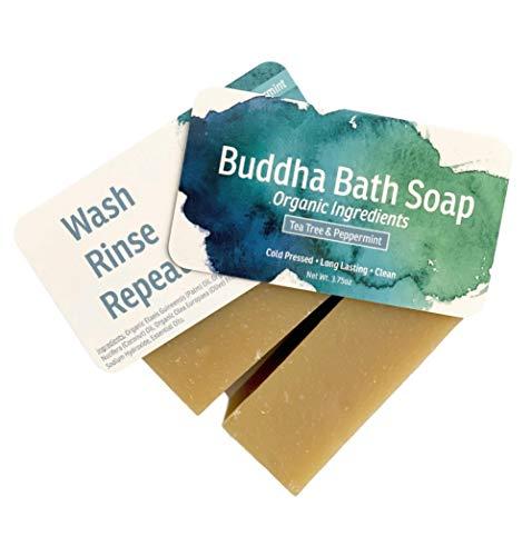 Buddha Bath Bar Soap All Natural Organic Cold Press Lemongrass For Men Women Face and Body (Tea Tree Peppermint)