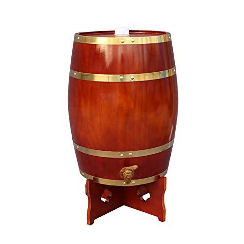 By Barril de Vino de Roble, dispensador de Barril de Whisky de Vino de Madera de Roble Vintage, barriles de Cerveza, barriles de Almacenamiento, para Whisky, Whisky, borbón, Tequila, Vino(Size:10L)