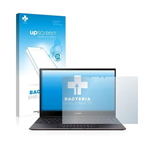 upscreen Protector de Pantalla Mate Compatible con ASUS Zenbook Flip S UX363EA Película Protectora Antibacteriana - Anti-Reflejos, Anti-Huella