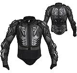 SLQX Chaqueta Protectora de Motocicleta, Chaleco de Motocicleta para Adultos, Equipo de Protección para la Espalda del Pecho, Armadura de Equipo de Protección de Motocross al Aire Libre-Black_XL