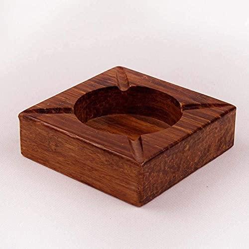 Cenicero a prueba de viento portátil, cenicero de madera Ette Madera artesanía hecha a mano Ette Etle Conjunto de regalo, adecuado para sala de estar oficina de dormitorio para hombres mujer decoració