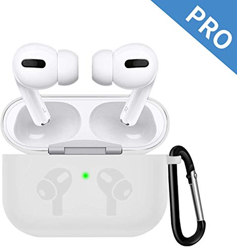 AirPods Pro Case, VATI Protective Case Cover for AirPods Pro Charging Case with Bounce Keychain, Soft Thicken Silicone AirPods 3 Case (Front LED Visible) (Plain)