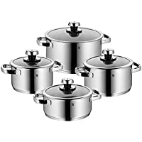8-Piece WMF Livo Cookware Set with High Casserole (Silver) (Second Quality)