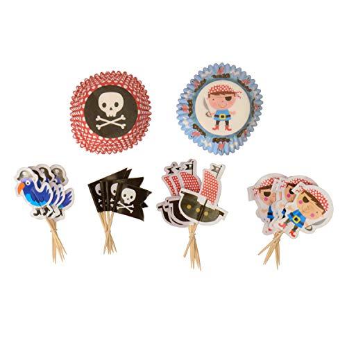 My Piraten Party, Piraten Party Kuchen Fällen und Piraten Party Kuchen, Flaggen-Set von 24Cases & Flaggen