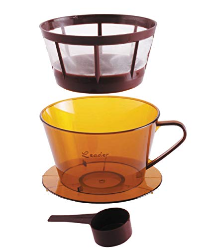 KitchenCraft Le'Xpress Coffee Dripper/Pour Over Coffee Maker Set with Coffee Scoop, Plastic