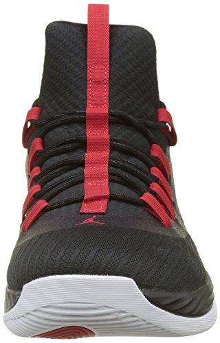 Nike Jordan Ultra Fly 2 Low Zapatos de Baloncesto Hombre, Negro (Black/University Red/White 001), 41 EU