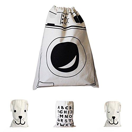 Drawstring Aufbewahrungsbeutel für Kleidung, Leinwand Wäschebeutel Waschküche Hammer mit String Spielzeug Lagerung Reise Stuff Taschen (1PC Waschmaschine)