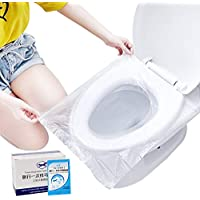 50-Pack Kalkehay Disposable Potty Training Plastic Toilet Seat Cover