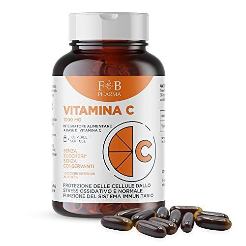Integratore di Vitamina C 1000mg, ALTO DOSAGGIO 180 Capsule SOFTGEL. Integratore Articolazioni & Ossa,denti, supporto per il sistema immunitario, riduce la stanchezza e affaticamento