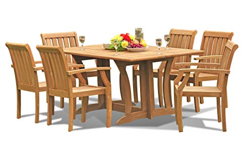 Outdoor Teak Dining Furniture Set: 69