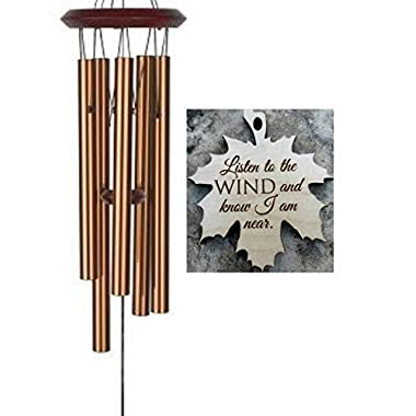 Memorial Wind Chime Chimes After Loss Gift PRIME loss of DAD in memory of Loved One Copper Wind Chime for Memorial Garden remembering stillborn baby miscarriage Top Selling Memorial Gift