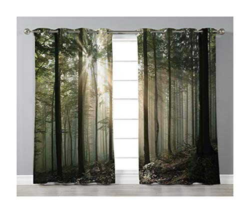 Goods247 Blackout Curtains,Grommets Panels Printed Curtains for Living Room (Set of 2 Panels,42 by 63 Inch Length),Farm House Decor
