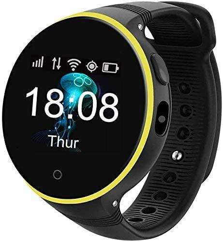 JIAJBG Reloj inteligente con pantalla táctil para niños, S668A 2019, regalo de cumpleaños, reloj despertador infantil, cámara Sos Girl Boy GPS Chat de voz, para Android e iOS S