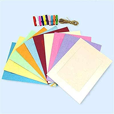 DAVITU US Warehouse - DIY Creative Mini Paper Photo Frame with Multicolor Mini Colored Clothespins and
