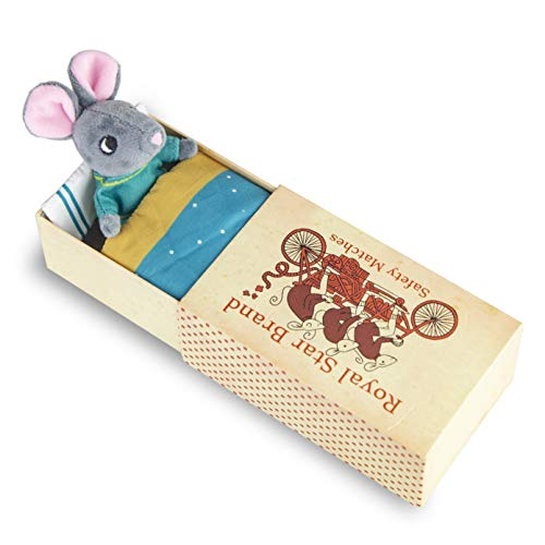 Foothill Toy Co. Matchbox Mice - Original & Tooth Fairy Playsets with Plush Toy Mouse in a Box, Harper