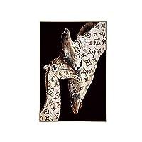 キャンバスに印刷動物の壁アートキリン家族現代の人気のあるヨーロッパのポスターインテリア家の装飾キャンバス絵画(30x40cm)フレームレス