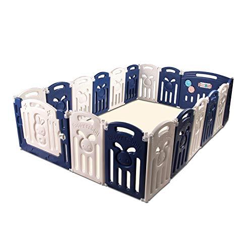 CCLIFE Laufgitter Laufstall Baby Absperrgitter Groß 14 18 Paneele Krabbelgitter kunststoff Schutzgitter Babyzaun klappbar