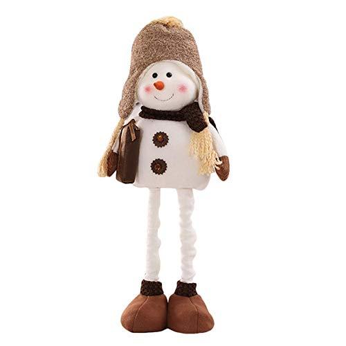 lingzhuo-shop sneeuwpop figuur kerstbal pop met sjaal muts golfsuited Een