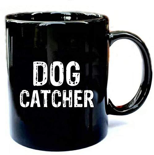 N\A Disfraz de Cazador de Perros de Halloween - Regalo Divertido Taza de cermica Negra Regalo Taza de caf